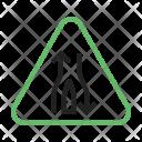 Single Lane Ahead Icon