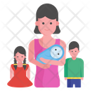Single Parent Mother Parental Newborn Icon