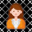 Single Person Female Icon