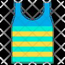 Striped Sleeveless Shirt Tshirt Icon