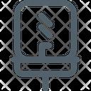 Furniture Line Sink Icon
