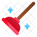 Sink Plunger Plumber Clean Icon