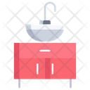 Sink With Storage Icon