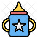 Sippy Cup Kid And Baby Learning Icon