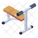 Sit Up Bench Fitness Equipment Fitness Machine Icon