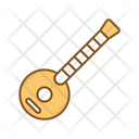 Sitar Indian National Instrument National Instrument Icon