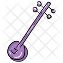 Sitar Stringed Instrument Musical Instrument Icon