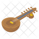 Sitar Stringed Instrument Musical Instrument Icon