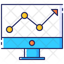 Site traffic analystics Icon