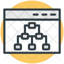Sitemap Website Structure Icon
