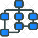 Sitemap Seo Flowchart Icon