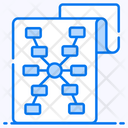 Hierarchy Algorithm Data Flow Icon