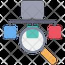 Sitemap Find Explore Icon