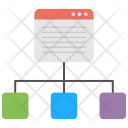 Site Navigation Wireframe Icon