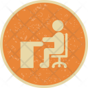 Sitting On Desk Icon