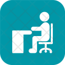 Sitting On Desk Icon