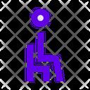 Man Person Sitting Icon