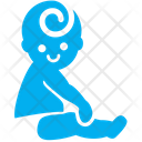 Sitting Baby Baby Kid Icon