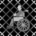 Sitting on wheelchair Icon