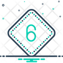 Six Number Letter Icon