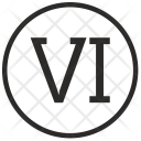 Six Number Roman Icon