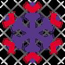 Six Branches Snowflake Icon