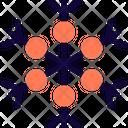 Six Circle Snowflake Icon