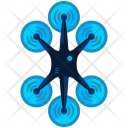 Six fan drone Icon