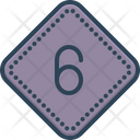 Six Number Six Position Six Icon