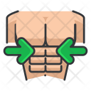 Man Fitness Sixpack Icon
