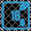 Sixteen Dollar Bill Icon