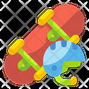 Skateboard Skate Wheels Icon