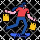 Skateboard Shopping Bag Buy Icon