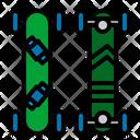 Skateboard Mountainboard Mountain Icon