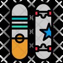 Skateboard Cruiser Sport Icon