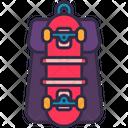 Backpack Bag Skateboard Icon