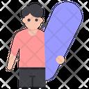 Skateboarder Flat Icon