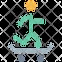 M Skateboard Icon