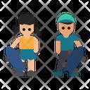 Skater Male Kids Icon