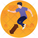 Skateboard Skating Skating Olympics Icon