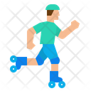 Skate Roller Skater Icon