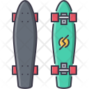 Skating Longboard Sport Icon