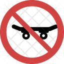 Skateboard Stop Allowed Icon