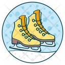 Ice Skates Skating Shoe Skate Boots Icon