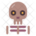 Skeleton Scary Halloween Icon