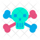 Horror Skeleton Head Icon