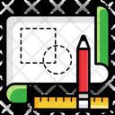 Geometric Architecture Paper Design Paper Draft Icon