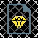 Sketch Diamond Document Icon
