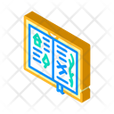 Sketch Book Isometric Icon