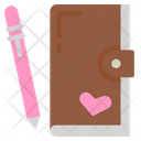 Sketchbook Diary Notebook Icon